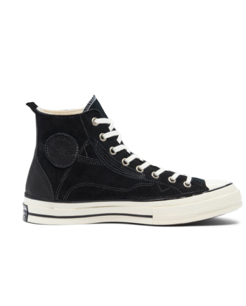 Converse Leather Patchwork Chuck 70 High Top Black Leather 169141C