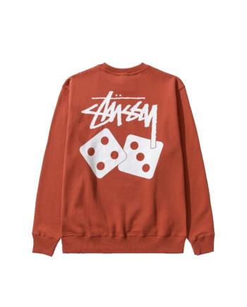 Stussy Dice Crew Sweatshirt Brick 1914721
